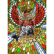 Ho-Oh V (Stained-Glass) Custom Pokemon Card Standard / Textless Silver Foil