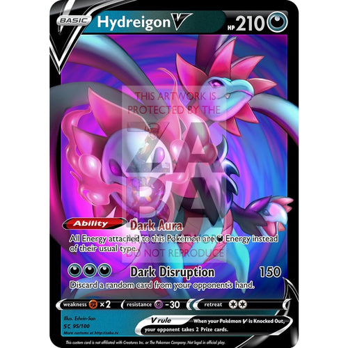 Hydreigon V Custom Pokemon Card Silver Foil