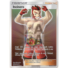 Incinero (Trainer) Custom Pokemon Card Silver Holographic