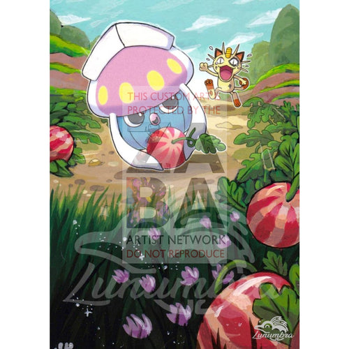 Inkay 41/108 Xy Roaring Skies Extended Art Custom Pokemon Card Textless Silver Holographic