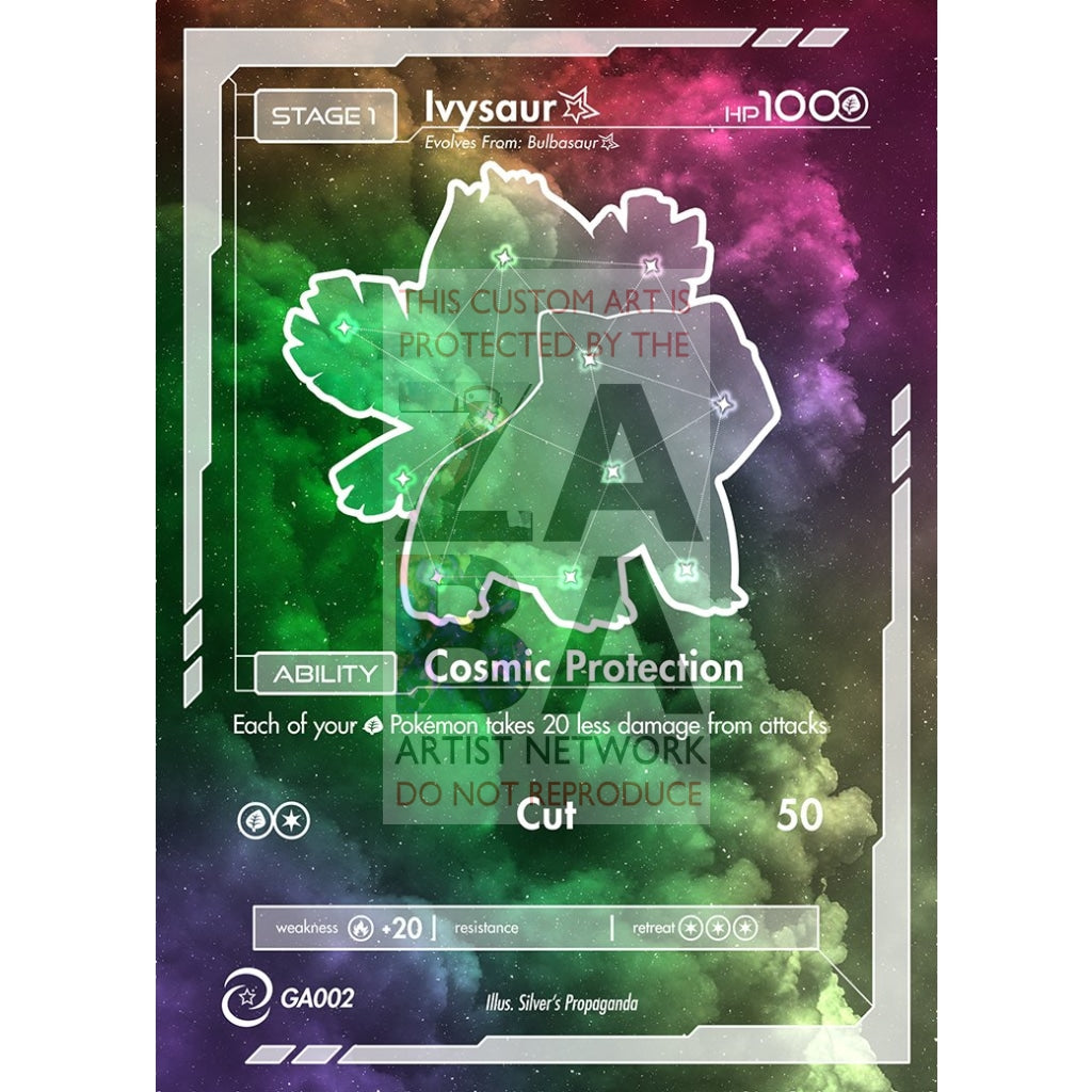 Ivysaur Constellation Card - Custom Pokemon