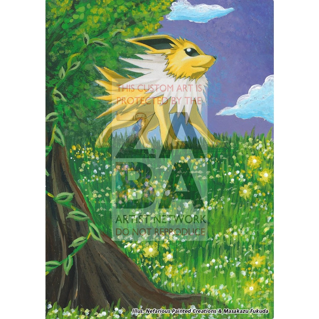 Jolteon 3/17 Pop Series 3 Extended Art Custom Pokemon Card Silver Holo