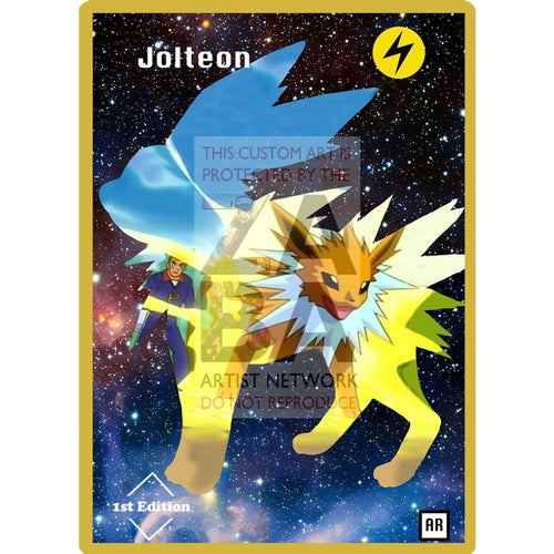 Jolteon Anime Silhouette (Drewzcustomcards) - Custom Pokemon Card