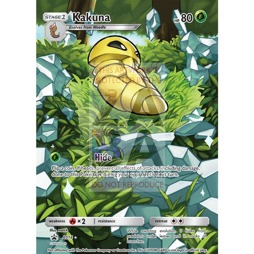 Kakuna 2/116 Plasma Freeze Extended Art Custom Pokemon Card Silver Foil / Text
