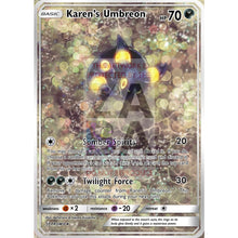 Karens Umbreon 091/141 Vs Set Extended Art Custom Pokemon Card Uv Selective Holographic + Text