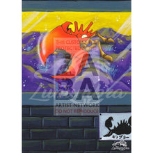 Kingler 38/62 Fossil Extended Art Custom Pokemon Card Textless Silver Holographic