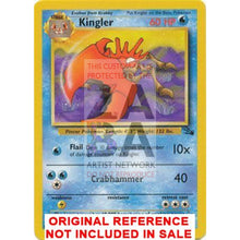 Kingler 38/62 Fossil Extended Art Custom Pokemon Card