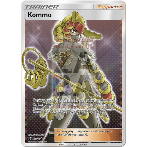 Kommo (Trainer) Custom Pokemon Card Silver Holographic