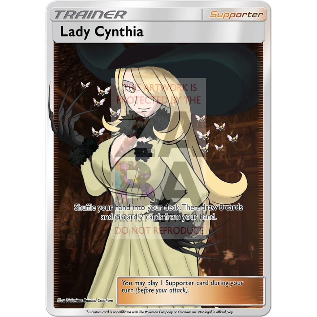 Lady Cynthia Custom Pokemon Card Silver Foil