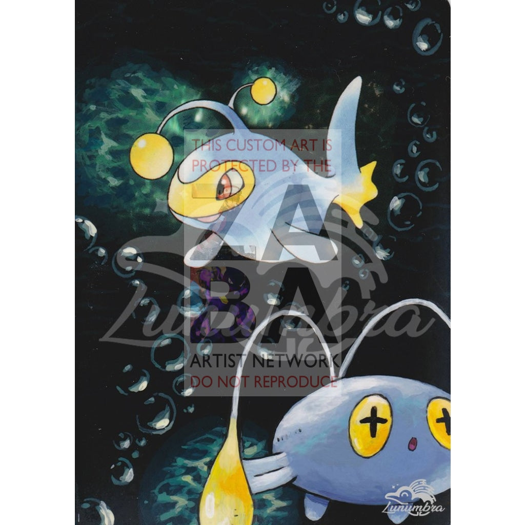 Lanturn 38/111 Neo Genesis Extended Art Custom Pokemon Card Textless Silver Holographic