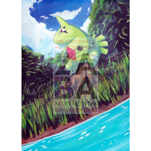 Larvitar 41/124 Xy Fates Collide Extended Art Custom Pokemon Card Textless Silver Holographic