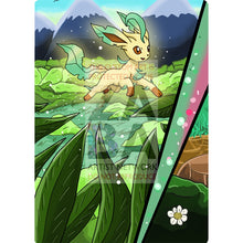 Leafeon V Custom Pokemon Card Textless Silver Foil