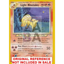 Light Ninetales 50/105 Neo Destiny Extended Art Custom Pokemon Card