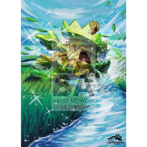 Ludicolo 37/160 Xy Primal Clash Extended Art Custom Pokemon Card Textless Silver Holographic
