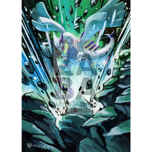 Lugia 140/189 Darkness Ablaze Extended Art Custom Pokemon Card Silver Holo