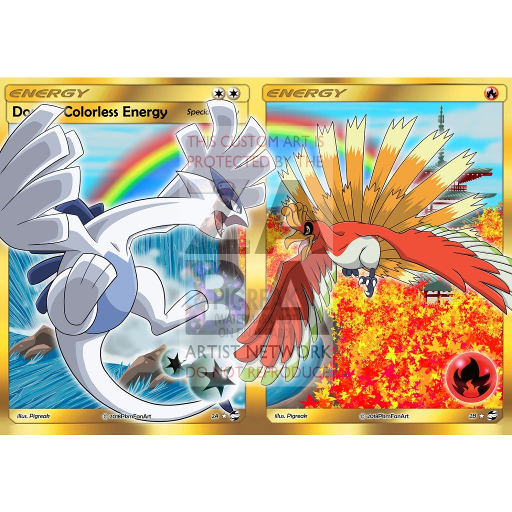Lugia + Ho-Oh Dual Energy Pack Pigreak Custom Pokemon Card