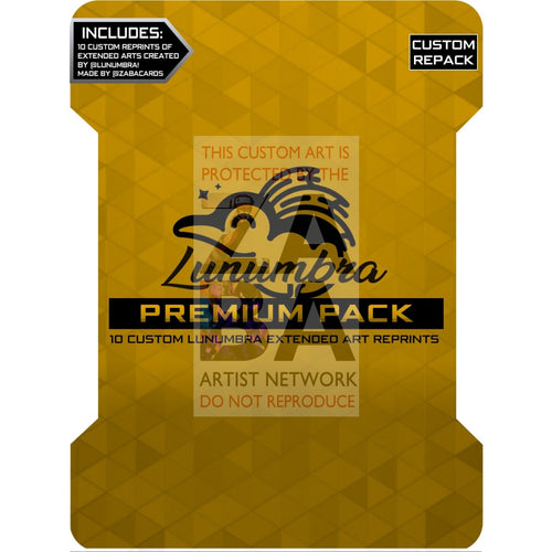 Lunumbra Premium Pack - 10 Extended Arts Reprint Custom Pokemon Packs