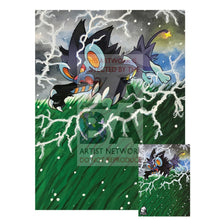Luxray 34/106 Xy Flashfire Extended Art Custom Pokemon Card 7 X 10 Silver Foil Poster +