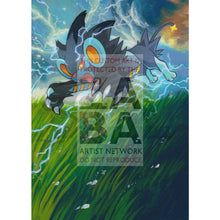Luxray 34/106 Xy Flashfire Extended Art Custom Pokemon Card Textless Silver Holographic