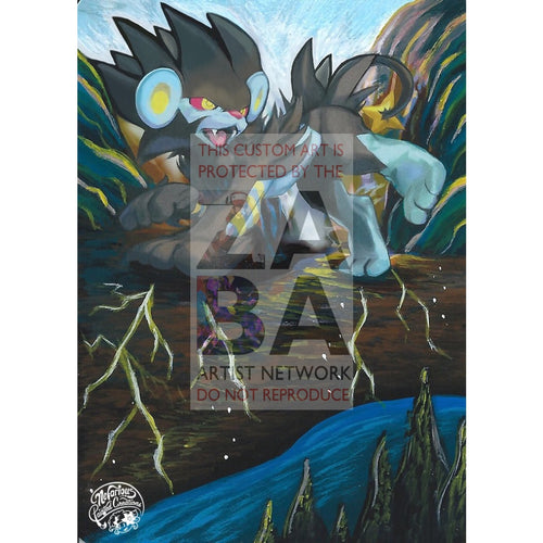 Luxray 5/99 Arceus Extended Art Custom Pokemon Card Silver Holo
