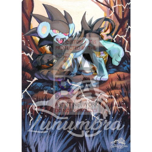 Luxray 5/99 Platinum Arceus Extended Art Custom Pokemon Card Textless Silver Holographic