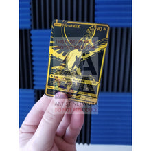Luxury Gold Ho-Oh Gx Secret Rare Custom Pokemon Card Black & Gold