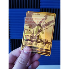 Luxury Gold Ho-Oh Gx Secret Rare Custom Pokemon Card Gold On