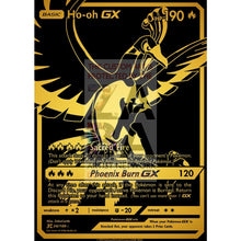 Luxury Gold Ho-Oh Gx Secret Rare Custom Pokemon Card