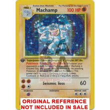 Machamp 8/102 Base Set Extended Art Custom Pokemon Card