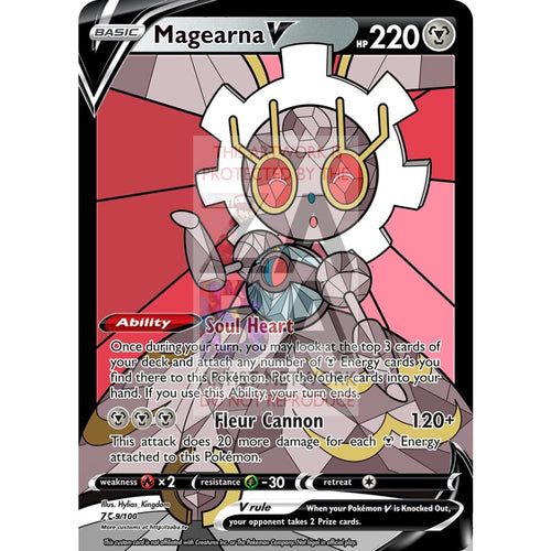 Magearna V Custom Pokemon Card Silver Foil / With Text