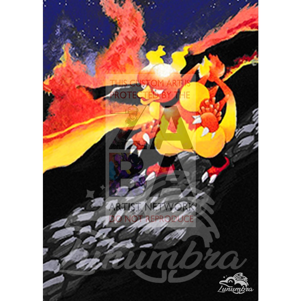 Magmar 40/111 Neo Genesis Extended Art Custom Pokemon Card Textless Silver Holographic