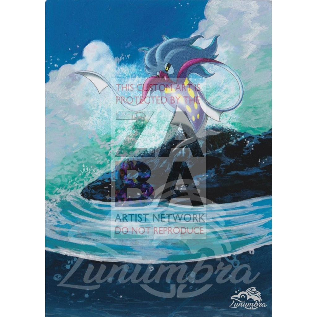 Malamar 46/98 Xy Ancient Origins Extended Art Custom Pokemon Card Textless Silver Holographic