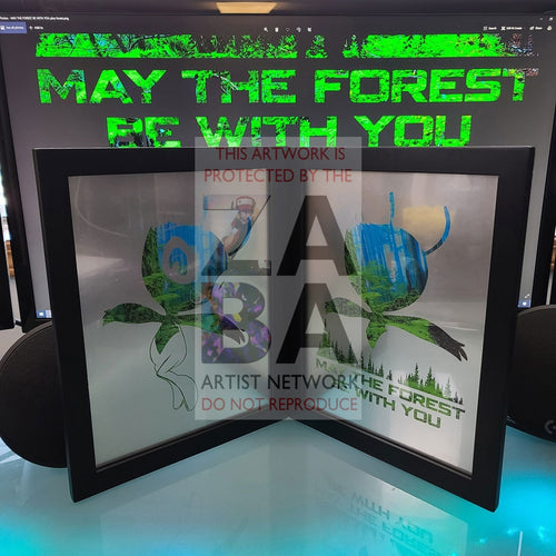 May The Forest Be With You Celebi Silver Metallic Poster Dual Pack Custom Pokemon Card