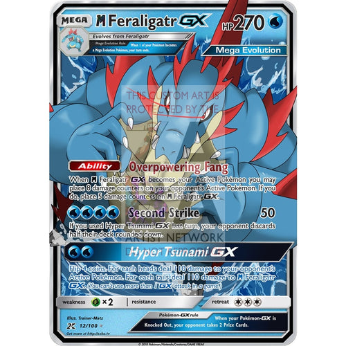 Mega Feraligatr Gx Custom Pokemon Card