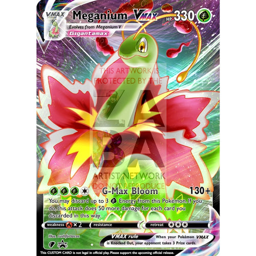 Meganium Vmax (Dynamax) Custom Pokemon Card Regular / Silver Foil