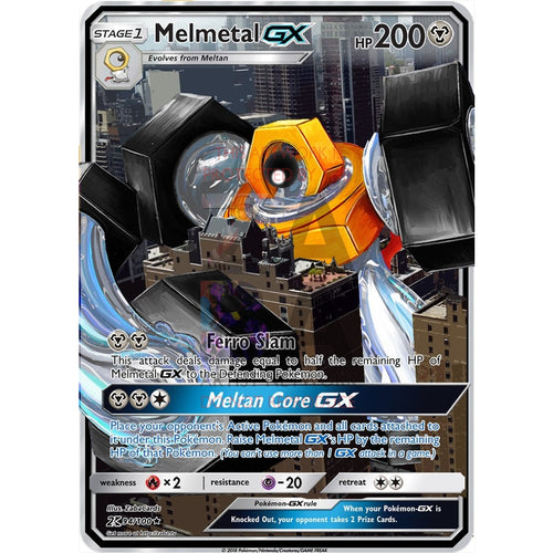 Melmetal Gx Custom Pokemon Card