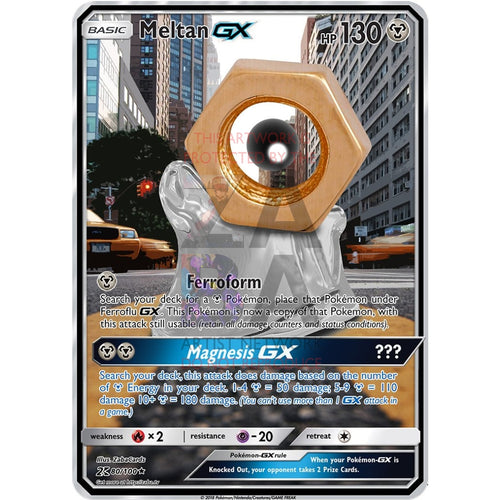 Meltan Gx Custom Pokemon Card