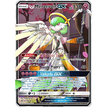 Mercevoir Gx (Gardevoir + Mercy) Custom Overwatch Pokemon Card Silver Foil
