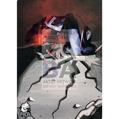Metagross 18/90 Undaunted Extended Art Custom Pokemon Card Silver Holographic