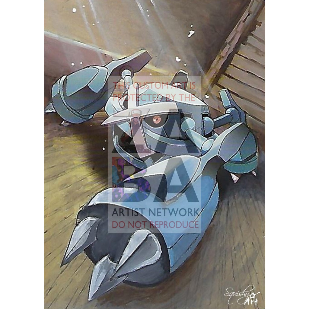 Metagross 50/98 Ancient Origins Extended Art Custom Pokemon Card Textless Silver Holographic