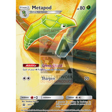 Metapod 46/123 Heartgold & Soulsilver Extended Art Custom Pokemon Card Premium Non-Holographic /