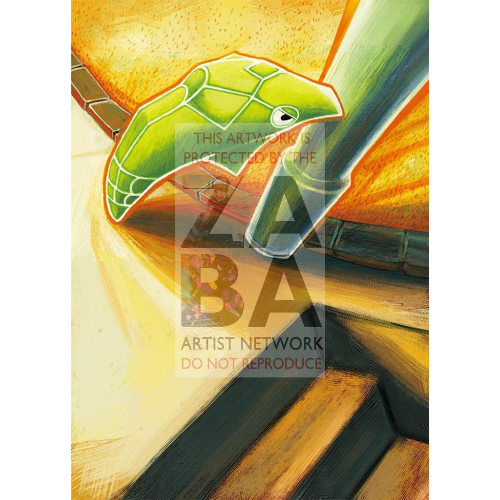 Metapod 46/123 Heartgold & Soulsilver Extended Art Custom Pokemon Card Silver Foil / Text