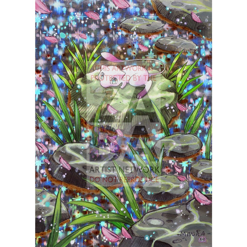Mew 53/108 Evolutions Extended Art Custom Pokemon Card Silver Holo
