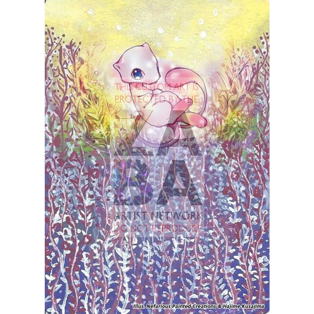 Mew 55/165 Expedition Extended Art Custom Pokemon Card Silver Holo