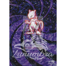 Mewtwo 10/102 Base Extended Art Custom Pokemon Card Textless Silver Holographic