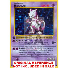 Mewtwo 10/102 Base Extended Art Custom Pokemon Card