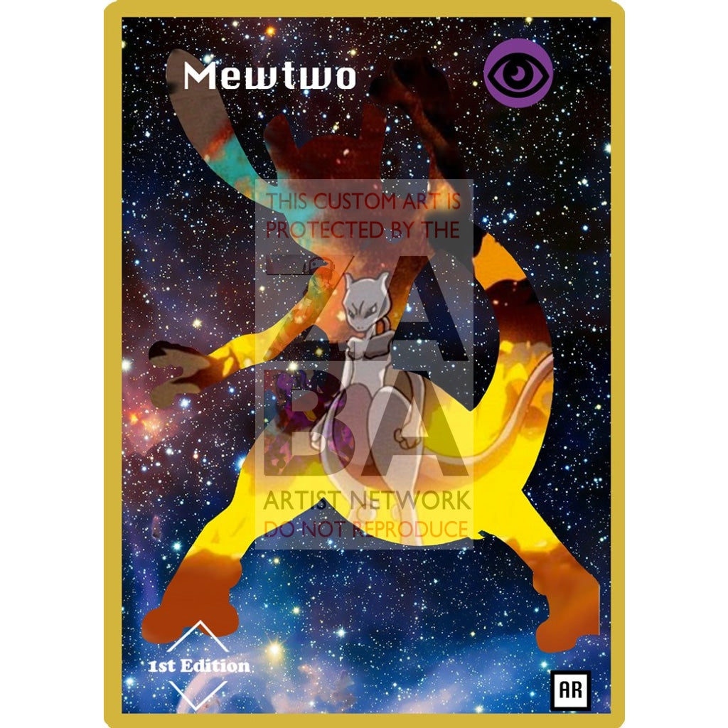 Mewtwo Anime Silhouette (Drewzcustomcards) - Custom Pokemon Card