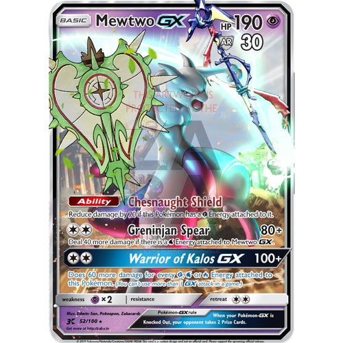 Mewtwo Gx (Kalos Battle Edition) Custom Pokemon Card