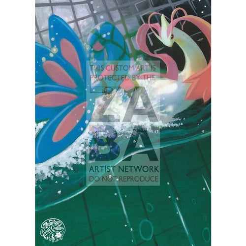 Milotic C 35/147 Supreme Victors Extended Art Custom Pokemon Card Silver Holo