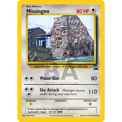 Missingno Classic Custom Pokemon Card